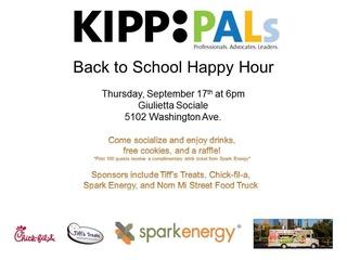 KIPP PALs Back to School Happy Hour