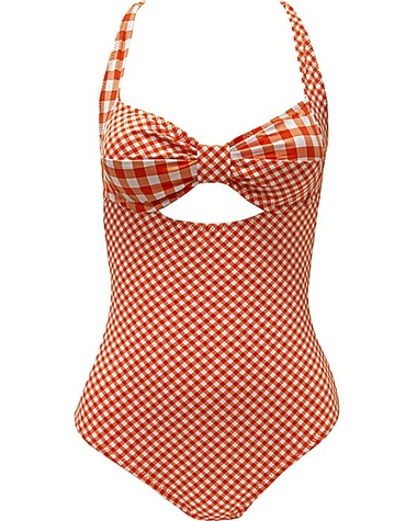 betsey johnson ATOMIC HOTTIE CUT OUT ONE PIECE