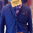 Quilted jacket at Pockets Menswear in Dallas