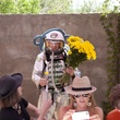 Ballroom Marfa Weekend, June 2012, Brunch, Astronaut with Flowers.JPG