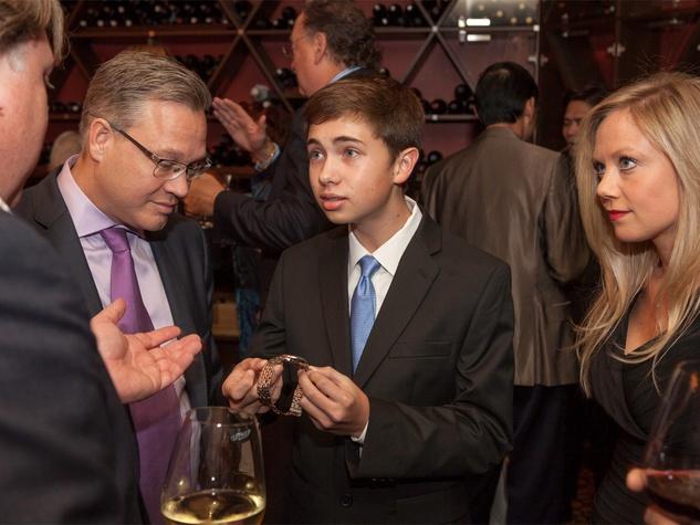 42 Shane Wilson, from left, Dayton Wilson and Sarah Starry at Zadok's F.P. Journe dinner November 2013