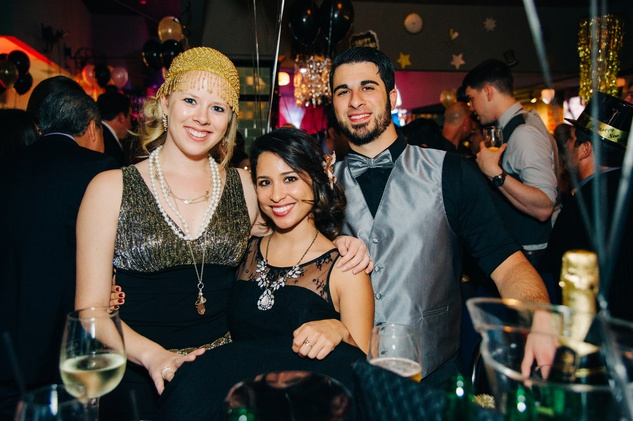 Robin Audi, from left, Alex Santiago and Ramy Audi at New Year's Eve at Local Pour January 2015