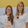 2 Kaci Bramhall, left, and Lisa Jett at young professionals build Tiny Libraries September 2014