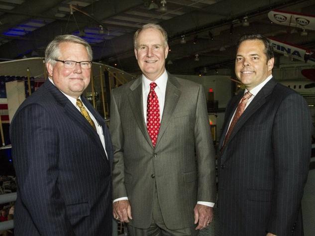 Don Clampitt, Gary Kelly, DREAM Fund president Richard Jones, southwest awards