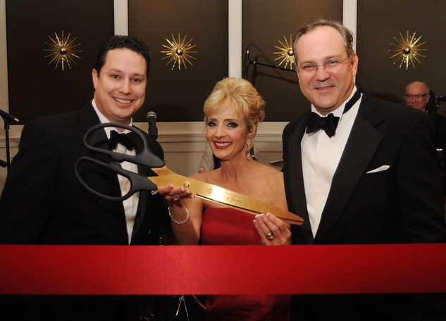 2 Daniel Moreno, left, with Allison and Tommy Edwards at the Petroleum Club of Houston Grand Opening Celebration February 2015