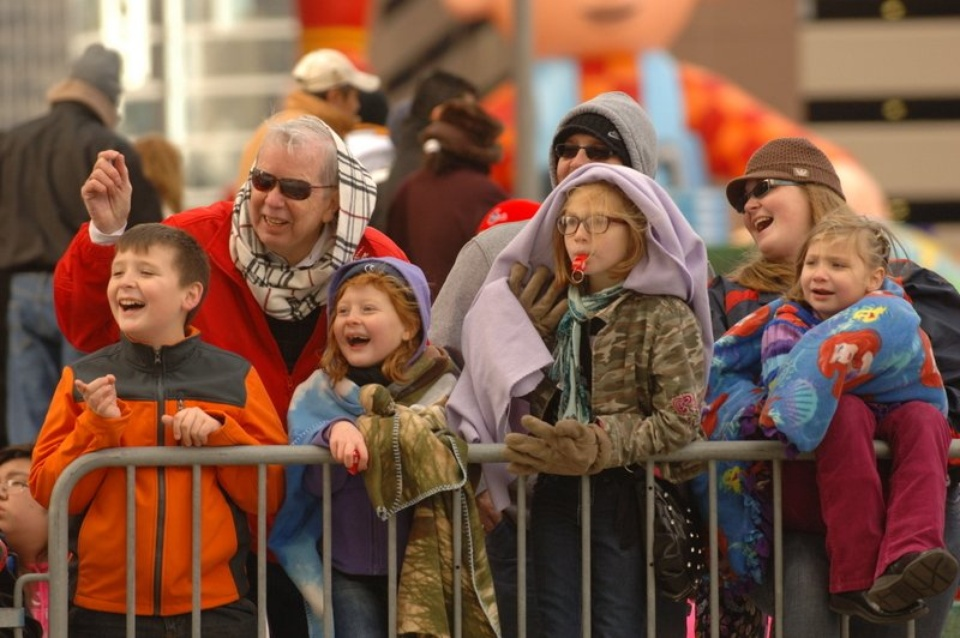 Thanksgiving Day Parade crowd