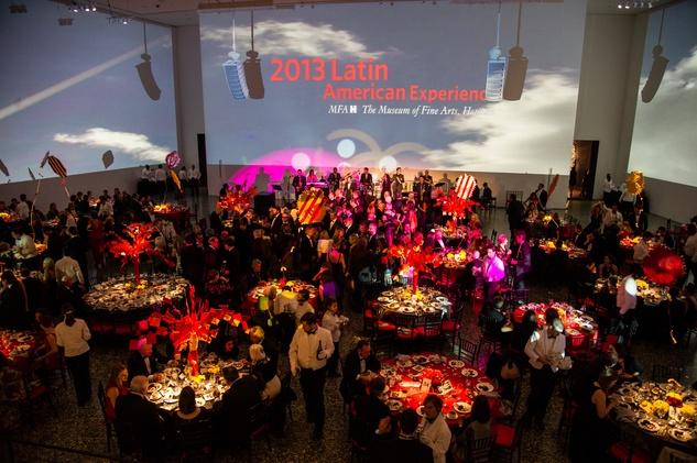 crowd, venue at Cullinan Hall at the MFAH Latin American Experience November 2013