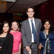 383 Carolina Diaz, from left, Caroline Ortego, Robbie Carman and Meha Gargi at the Leo Bar relaunch party October 2013