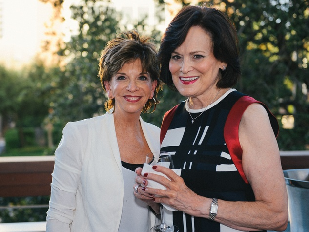 Vicki Rizzo, left, and Mary Beth Aspromonte at Ceron's 50th birthday party August 2014