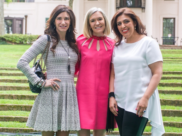 Bayou Bend luncheon, April 2016, Melissa Mithoff, Katie Brass, Nidhika Mehta