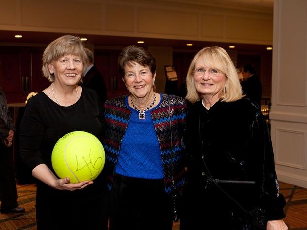 Marilyn Bik, from left, Bev Taylor, center and Patsy Jorgensen at the Houston Tennis Association Gala February 2014