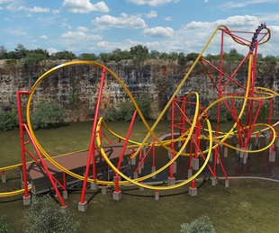 Six Flags Fiesta Texas Wonder Woman roller coaster