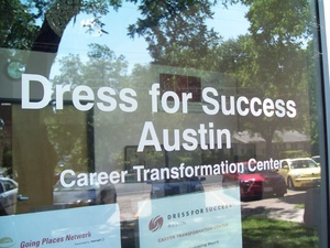 Austin photo: Event_Dress for Success_Sign