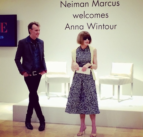 Ken Downing, Anna Wintour at Neiman Marcus Austin event