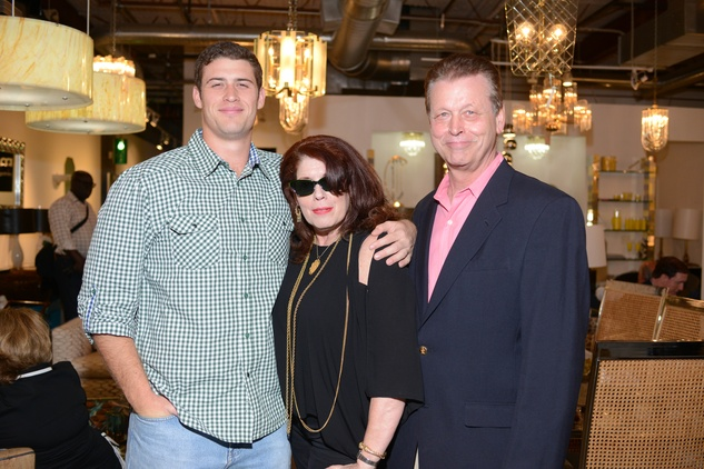 8 Bryce Hollingsworth, from left, with Elise and Denzil Hollingsworth at the Houston Antique + Art + Design Show September 2014