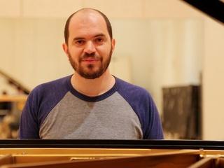 3 Kirill Gerstein prepares piano for Houston Symphony performance September 2013