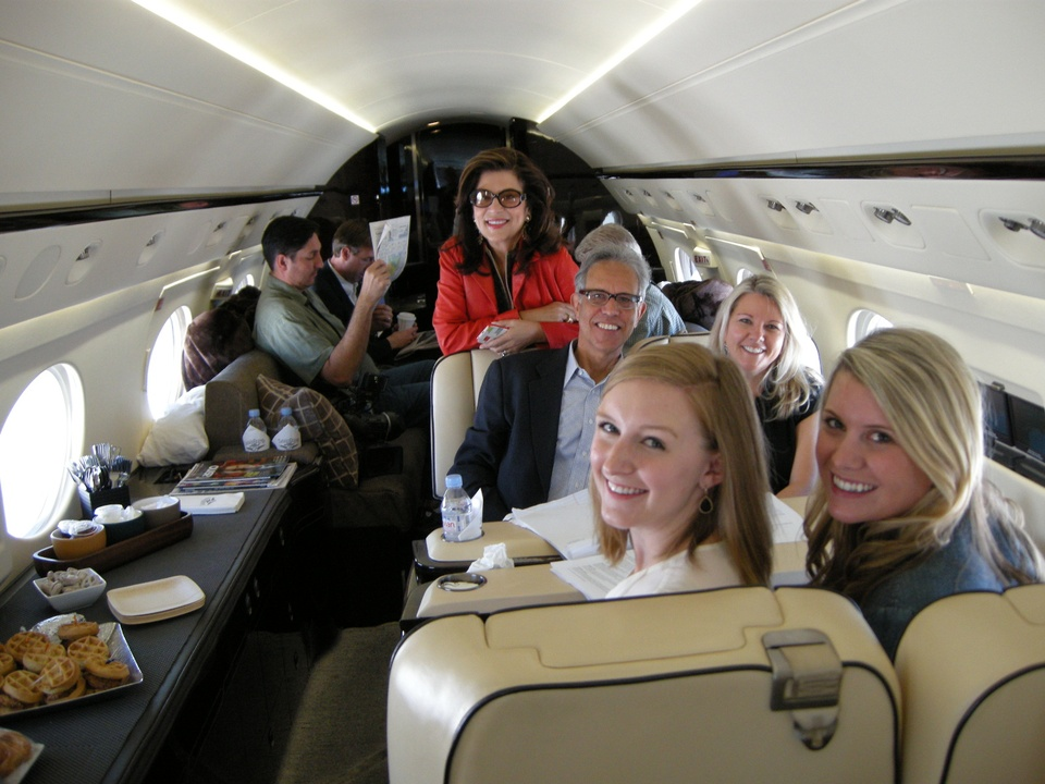 Tilman Fertitta interior jet in Biloxi May 2014