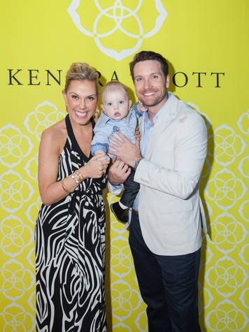 Kendra Scott, from left, Grey and Matt Davis at the Kendra Scott opening in The Woodlands April 2014