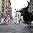 The Great Bull Run running with the bulls