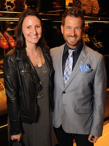 Kate Stukenberg and Jeff Shell at the Gucci Alley Theatre cocktail party October 2013