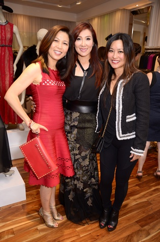 4 Diana Sun, from left, Mandy Kao and Gina Li at Mandy Kao and Nihala Zakaria birthday party October 2014