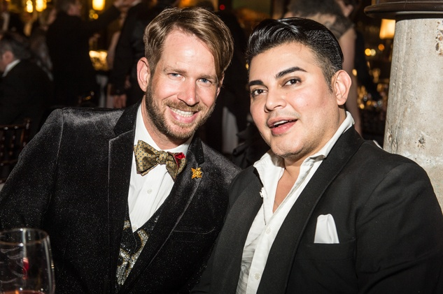 Edward Sanchez, left, and Jeff Shell at the Stages Repertory Theatre Gala April 2015 FULTON