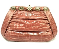 Judith Leiber alligator handbag