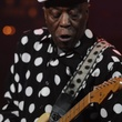 Buddy Guy performs with Double Trouble in tribute to Stevie Ray Vaughan.