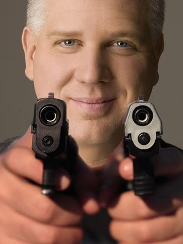 Glenn Beck with gun