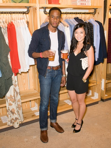 David Pailin and Bianca Dizon at Steven Alan store opening in Dallas