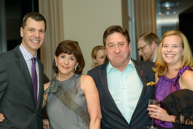 Mark Hanson, from left, Cookie and Lee Centracco and Jennifer Ducey at the Houston Symphony POPS Event with Steven Reineke & Sutton Foster February 2015