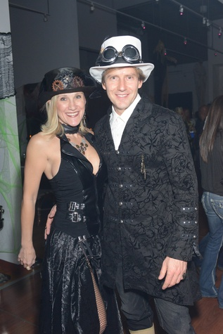 Julia and Paul Atha at the Brasserie 19 Halloween party October 2014