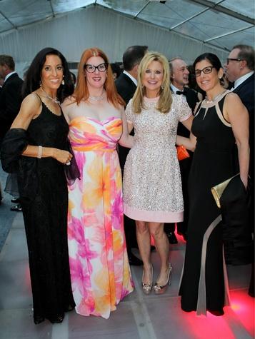 Rhonda Marcus, Anne Stodghill, Elaine Pearlman, Pam Denesuk, art ball 2014