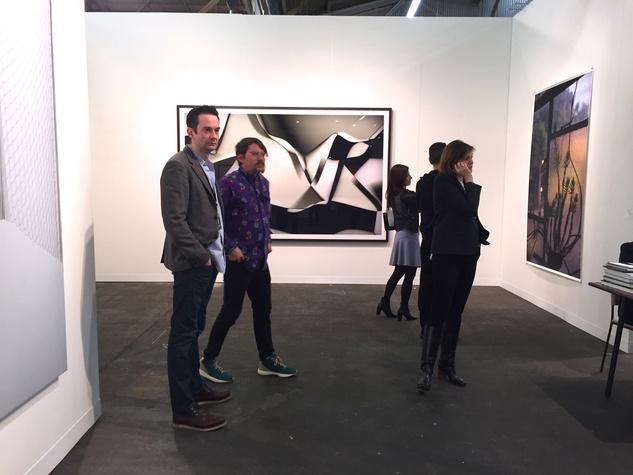 Lea Weingarten Armory Arts Week Fair Story March 2015 Image 2 Fair Shot David Zwirner Gallery  (Thomas Ruff photograph in background)