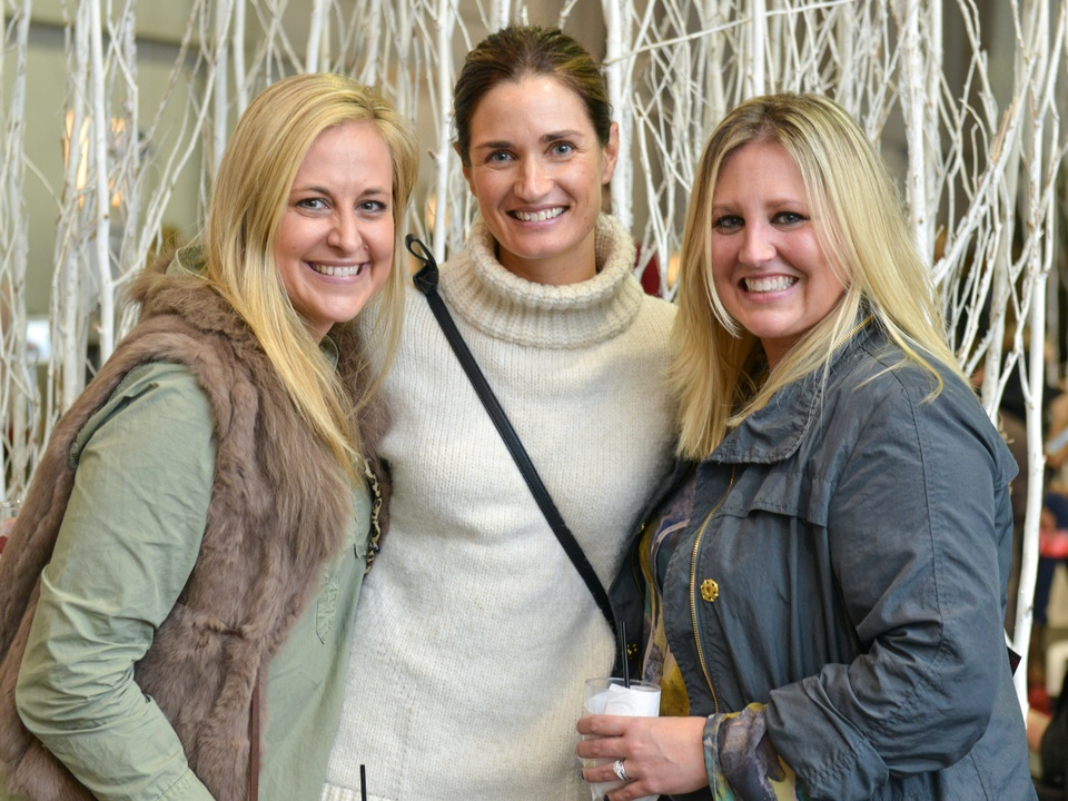 32 Lauren Jones, from left, Erin Breen and Meredith Chastang at the CultureMap Pop-Up Shop December 2014
