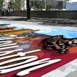 Visa Colori, chalk art, June 2012, downtown, mural mockup on street