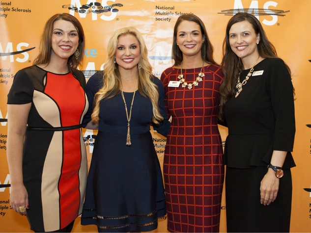 Leah Weatherl, Julie Roberts, Shannon Nelson, Taylor Mallia at MS Society luncheon