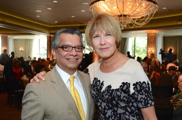 David Ruiz and Ellen Sanborn at the Children at Risk luncheon October 2014
