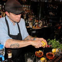 Alex Fletcher at Woodford Reserve Manhattan party