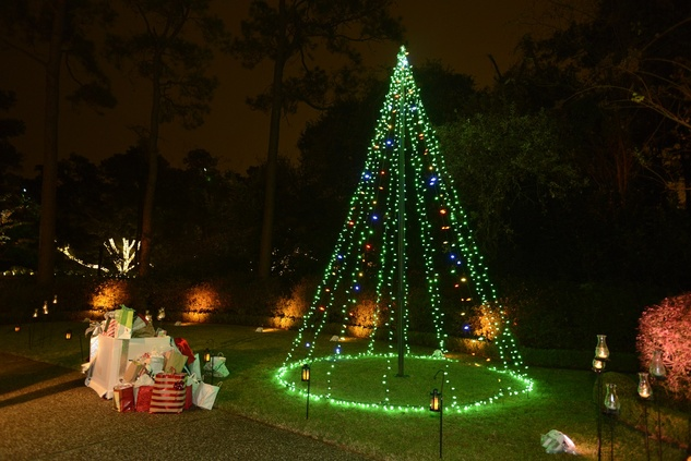 39 A tree of lights with gifts at Texas Children's Ambassadors wraps up #GivingTuesday week December 2014