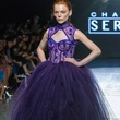 Chasity Sereal purple gown at New York Fashion Week