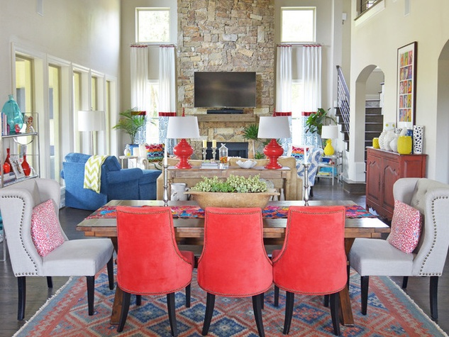 houzz forth worth house home color happy country living dining room living - Happy Colors For Living Room