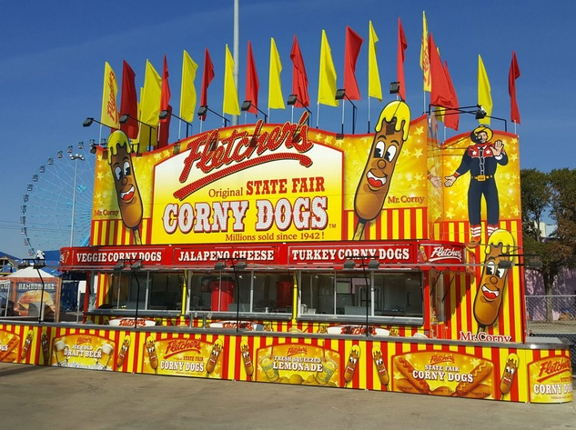 Food Fight Fair Food Classics Go Head To Head together with New Look State Fair furthermore Look Googleburgers moreover Corn Dog Recipe That Is Texas State Fair Worthy additionally State Fair Blue Ribbon Recipes. on state fair corn dogs
