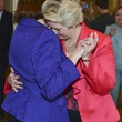 Annise Parker and Kathy Hubbard at first dance at wedding reception March 2014