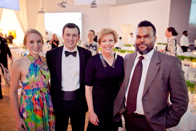 20 Henley Siegrist, from left, David Restrepo, Candace Baggett and Jamal Cyrus at the CAMH Gala March 2015