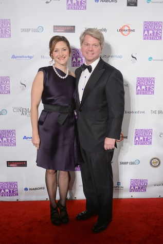 Ann Vaughan and James A. Richard at the Houston Cinema Arts Festival opening party November 2014