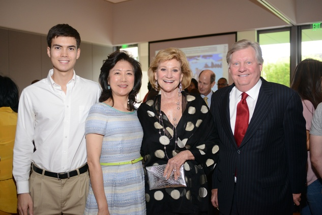 3 Anthony Foster, from left, Lily Foster and Carolyn and James Robertson at the HFAF Launch at the Asia Society June 2014