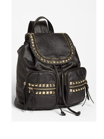 Cesca 'Study Buddy' Studded Faux Leather Backpack