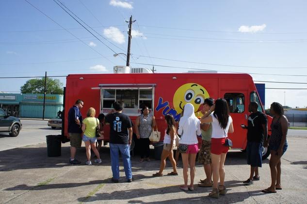 Houston Food Park grand opening Yummy'z truck