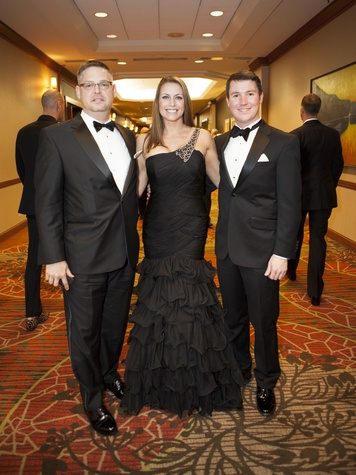 Greg Franklin, JaNell James, Jeffrey Dorough, black tie dinner